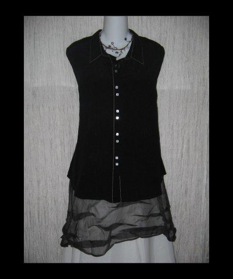 NWT Isabella Bird Black Silk Tunic Top Shirt X-Large XL