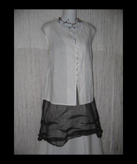 NWT Isabella Bird White Shapely Linen Tunic Top Shirt X-Large XL
