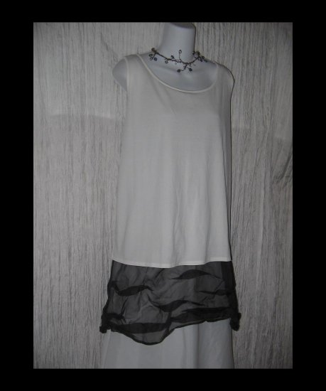 Eileen Fisher Slinky White Silk Pullover Shirt Tunic Top 1X