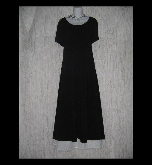 New J. Jill Long Shapely Black Slinky Knit Dress X-Large Tall XLT