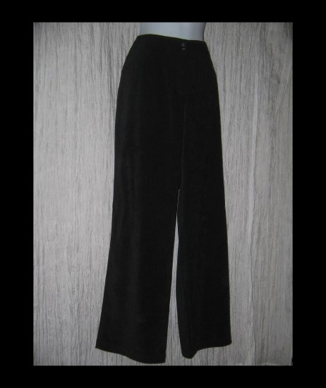 New J. Jill Shapely Black Micro Suede Trousers Pants 14