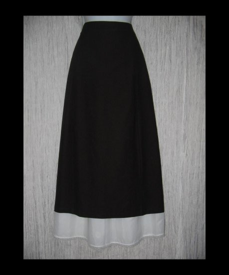 New Eileen Fisher Long Shapely Brown Knit Skirt Large L