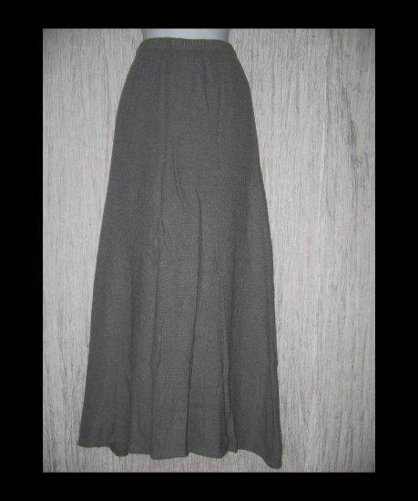 Alywear Aly Wear Long & Full Earthy Gray Knit Skirt Medium M