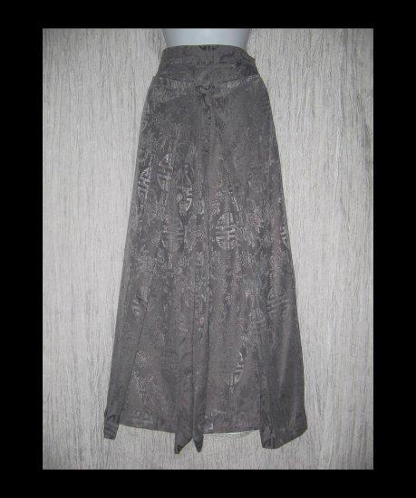 Long Asain Weave Art to Wear Pewter Wrap Panel Skirt X-Large XL