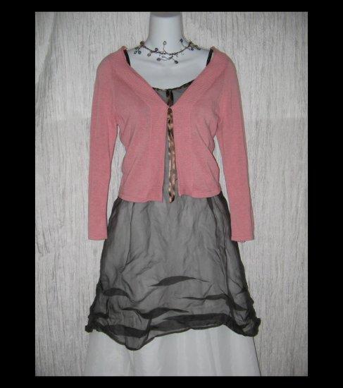 J. Jill Soft Pink Cotton Knit Cardigan Sweater Tunic Top X-Small XS