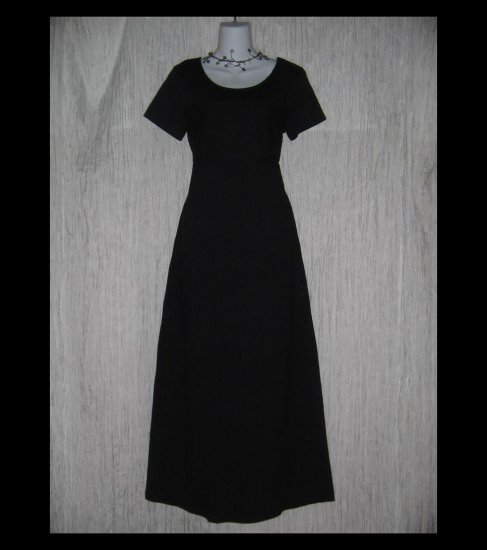 CLOTHESPIN Funky Boutique Textured Cotton Dress Black Small S
