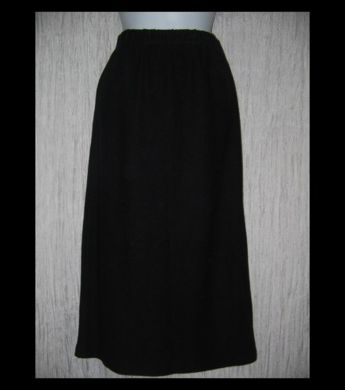 Stephanie Schuster for Princess Knitwear Long Black Knit Skirt Large L