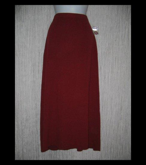 New DIALOGUE Long Red Acrylic Wool Knit Skirt Medium M