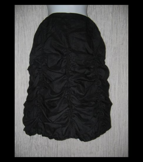 New HANNA la journee Shapely Black Rusched Parachute Skirt 1 S M
