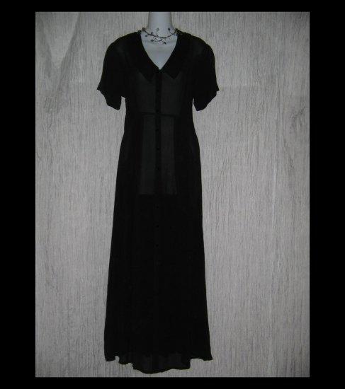 Angelheart Designs by Jeanne Engelhart Flax Shapely Black Dress Small S