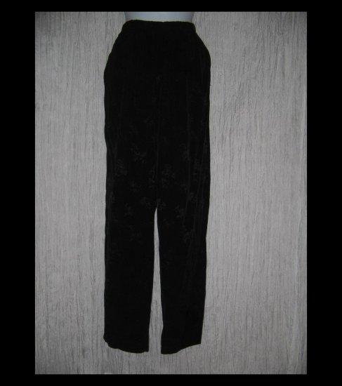 CP SHADES Long & Lean Black Floral Rayon Pants Medium M