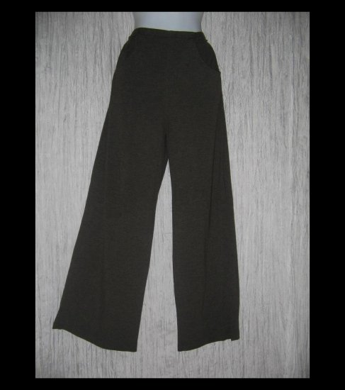 CLOTHESPIN Boutique Long Loose Earthy Green Brown Knit Pants Small S