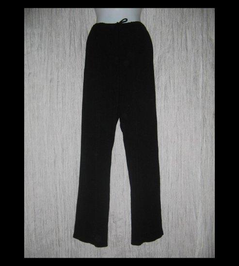 CHICO'S DESIGN Loose Slinky Black Drawstring Pants 2 M L