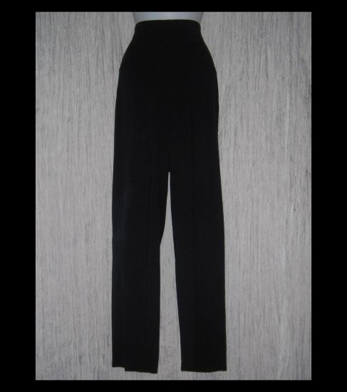 EILEEN FISHER Long Loose Soft Black Organic Cotton Knit Pants Large L