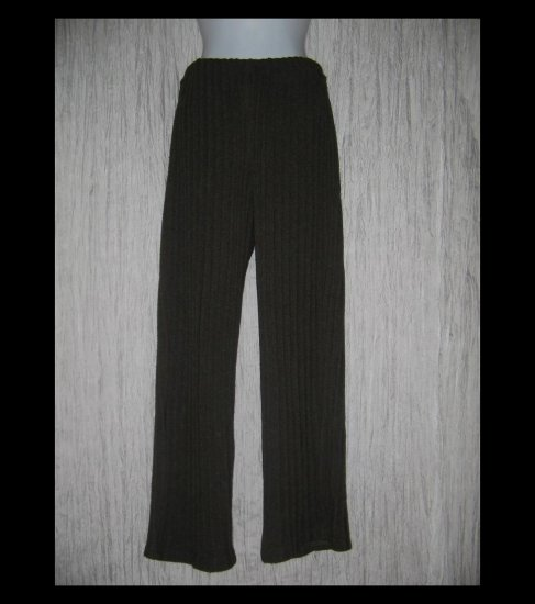 CLOTHESPIN Boutique Loose Wide Ribbed Knit Earthy Brown Pants Medium M