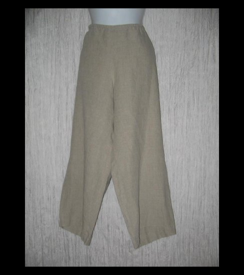 EILEEN FISHER Shapely Wide Leg IRISH LINEN Pants X-Large XL