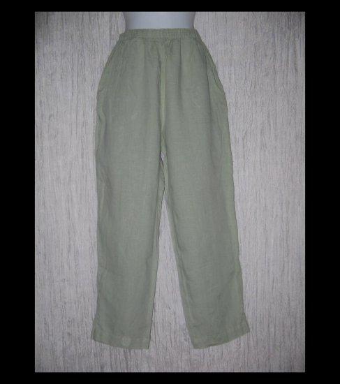 FLAX by Jeanne Engelhart Long Blue Gray LINEN Pants Small S