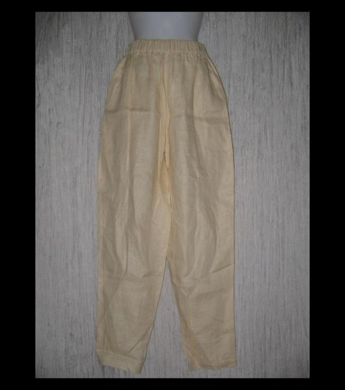 Japanalia Man Long Buttery Yellow LINEN Pants Medium M