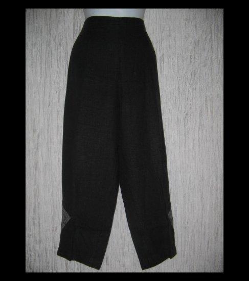 NANNETTE KELLER Long Black Art to Wear Patch Pants X-Large XL