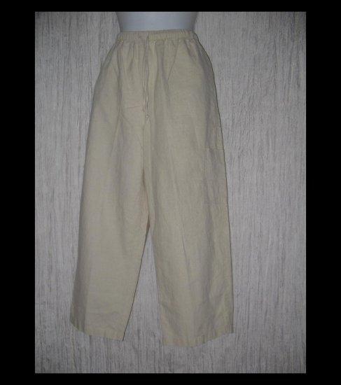 Coldwater Creek Linen Rayon Drawstring Pants Medium M