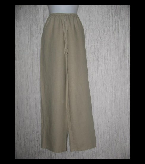 Maurices Long Loose Linen Drawstring Pants Large L