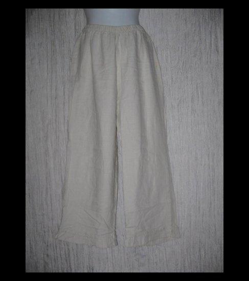 Chalet Boutique Ruffled Linen Wide Leg Pants Large L