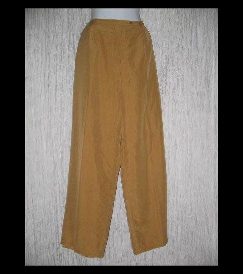 LEILEI Elegant Long Lined Silk & Wool Trousers Pants X-Large XL