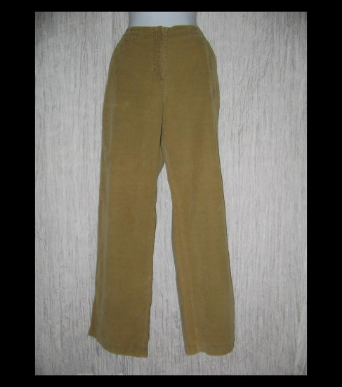 Solitaire Boutique Wide Leg Tan Corduroy Trousers Pants Medium M