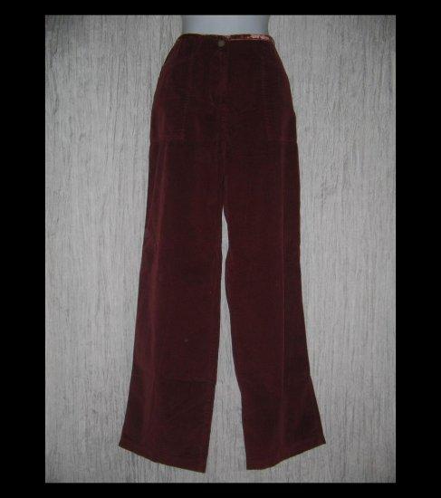 J. JILL Velvet Trim Wide Leg Corduroy Trousers Pants 12