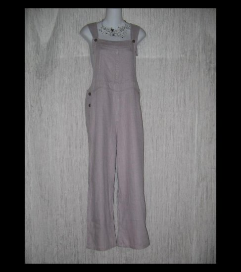 J. JILL Soft Lavender Linen Overalls Pants Medium M