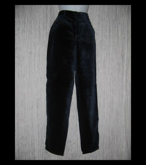 Coldwater Creek Soft Shapely Black Velour Trousers Pants 12