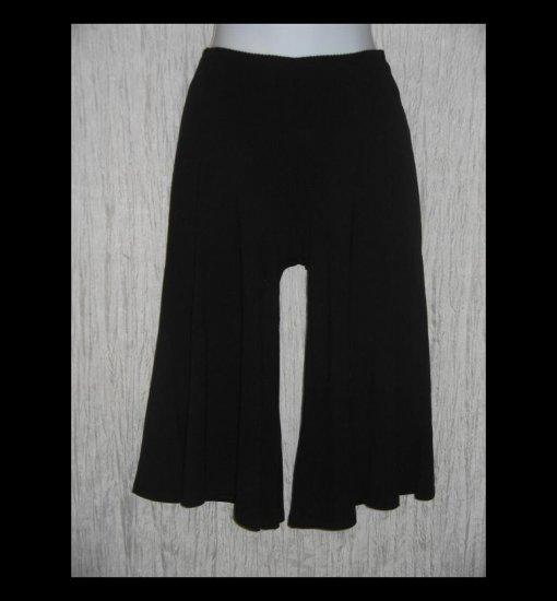 New J. Jill Soft Black Rayon Knit Gauchos Pants X-Small Petite XSP