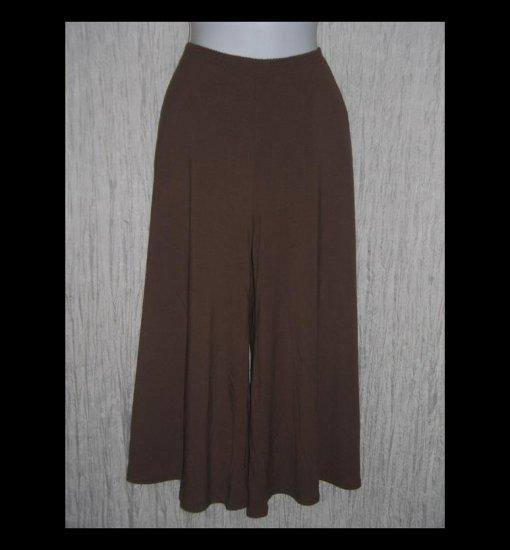 New J. Jill Soft Chocolate Brown Rayon Knit Gauchos Pants Large L