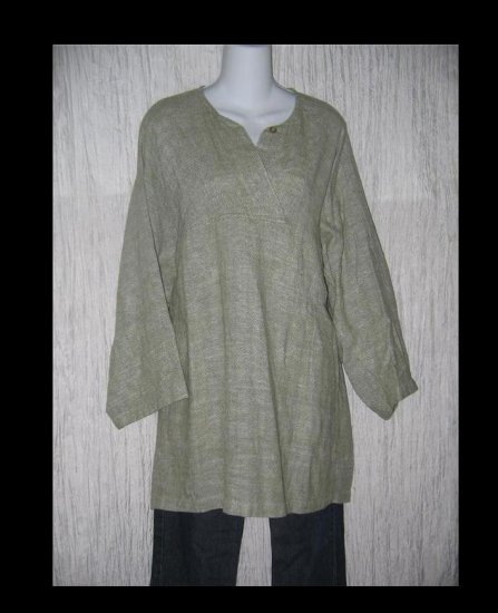 Sangam Earthy Woven Cotton Tunic Top Shirt One Size OS