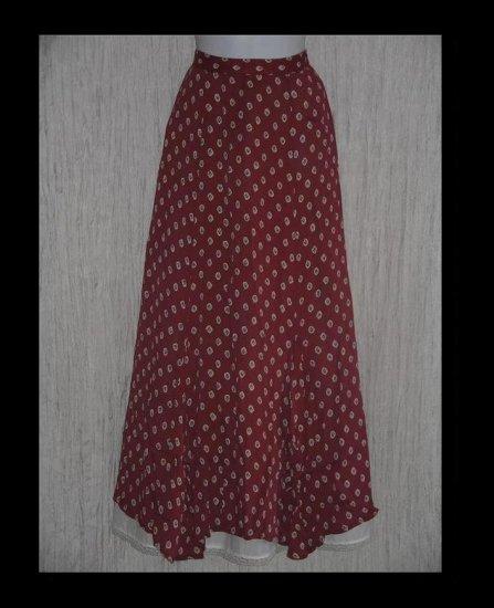 Putumayo Long & Full Sweeping Shapely Rayon Skirt Medium M