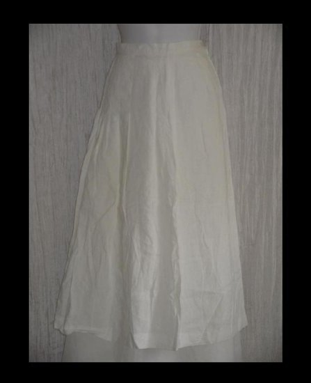 J. Crew Long & Full Sweeping Shapely White Linen Skirt 10