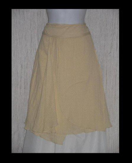 Free People Full & Fluttery Calf Length Cream Assymetrical Layered Skirt 6