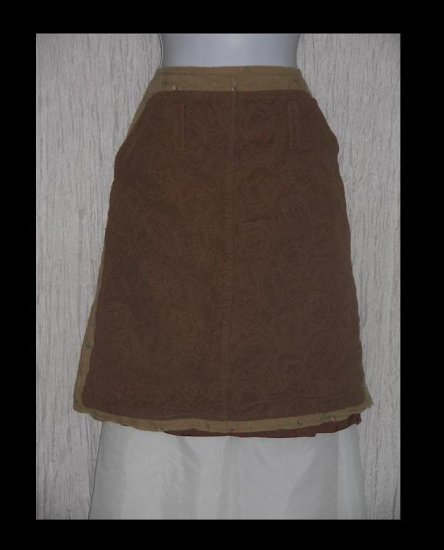 OILILY Boutique Shapely Textured Wool & Cotton Knee Skirt 40