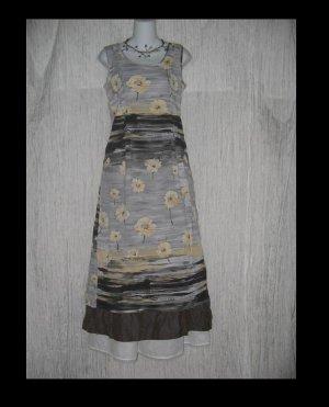 Jams World Long Shapely Coal Flower Rayon Dress X-Small XS