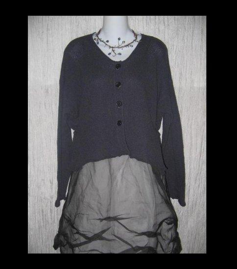 NEESH by D.A.R. Cropped Purple Cardigan Sweater Small Medium S M