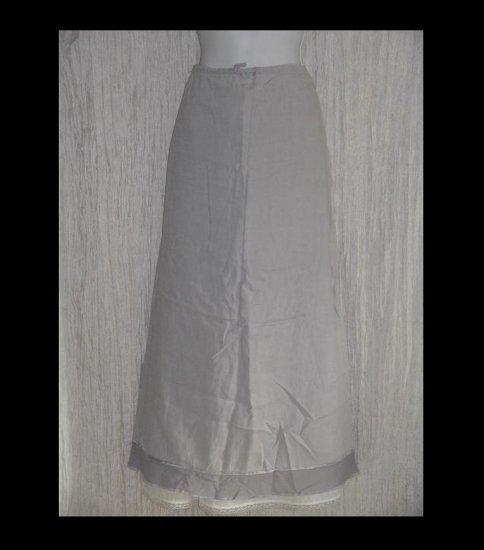 J. Jill Long & Full Fluttery Linen Drawstring Skirt Small S