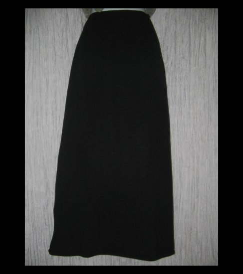 Eileen Fisher Long Shapely Black Wool Skirt Small S