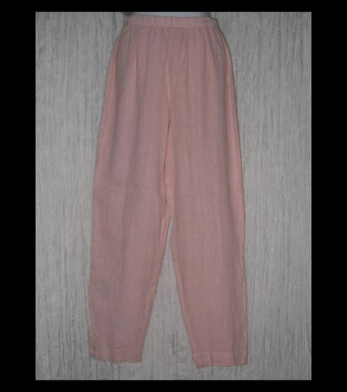 New HOT COTTON by Marc Ware Long Pink Linen Pants Medium M