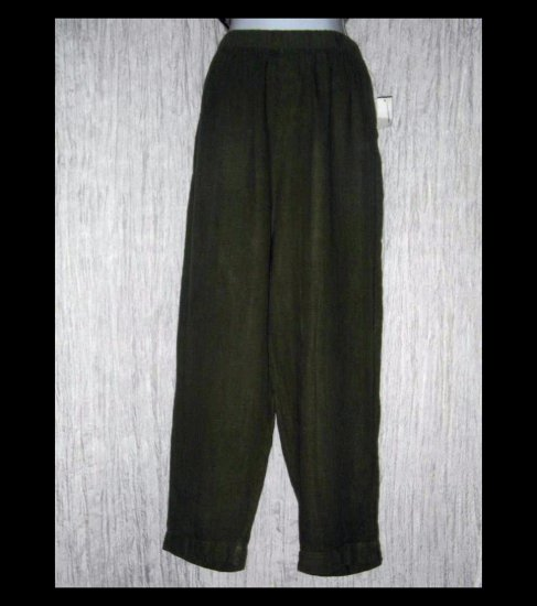 New HOT COTTON by Marc Ware Green Long Linen Pants 2X
