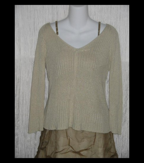 Banana Republic Soft Taupe Knit Pullover Tunic Top Shirt Medium M