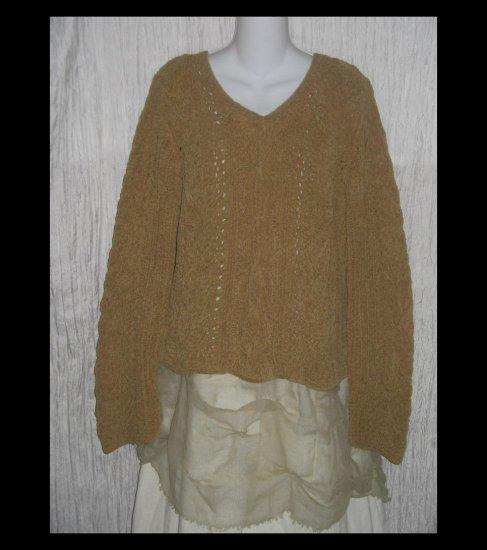 J.  Jill Soft Earthy Green Chenille Handknit Pullover Sweater Top Large L