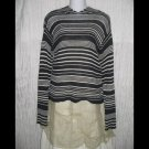 GAP Black & White Striped Knit Hooded Pullover Sweater Top Medium M