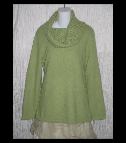 SARAH SPENCER Woman Soft Green Angora Turtleneck Sweater Tunic Top 1X