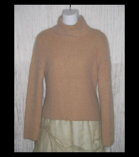 LUCIDITY Softest Brown Turtleneck Sweater Tunic Top Medium M