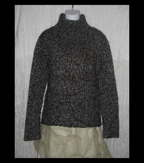 GAP Cozy Black & White Wool Turtleneck Sweater Tunic Top X-Large XL